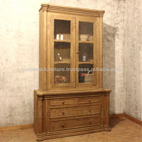 Antique Display Cabinet With Distressed Finish, Ludvig Cabinets