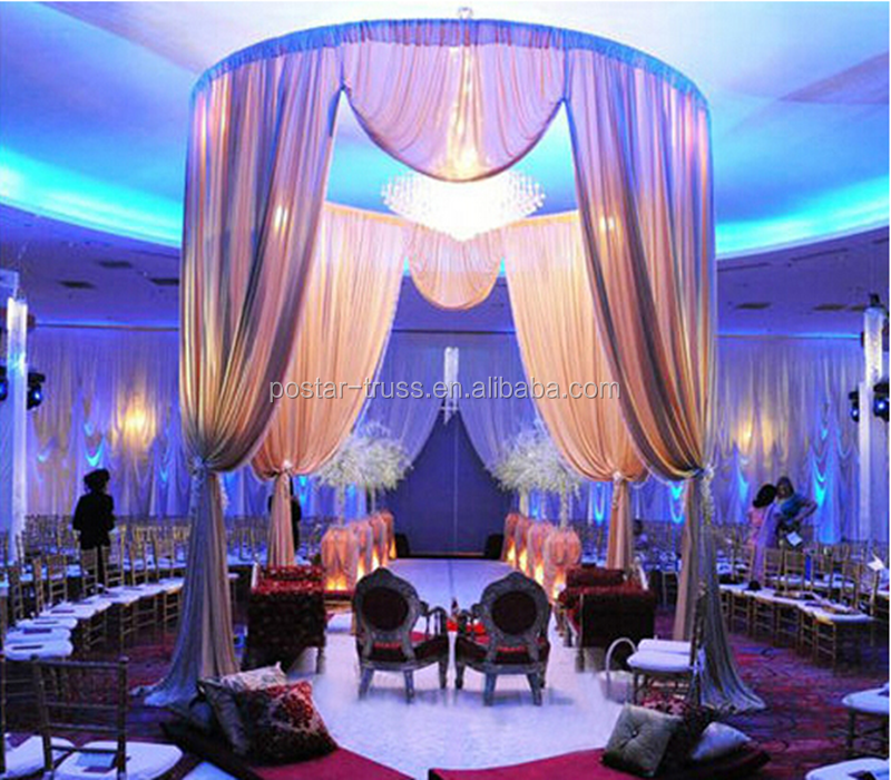 Cheap price round pipe and drape wedding backdrop manufacturer