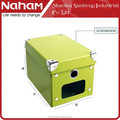 NAHAM House Green Cardboard Paper Storage Box With Metal Corner