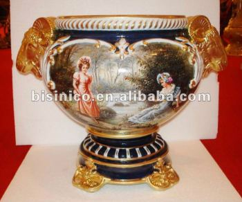 Home decoration European porcelain arts-Gold colour Beauty antique ceramic Prize cup, MOQ:1PC(B15250)