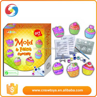 Bright luster ice cupcake Kid painting toy div game for kids