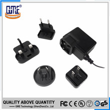 grade A quality black plug-in connection universal ac dc adapter 5v 1.2a