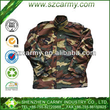 Military 3-layers Woodland Camouflage Waterproof Battle M65 Field Jacket