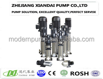 Stainless steel vertical multistage water pump