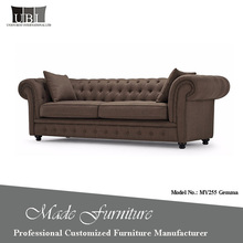 Factory Sale Directly Cheap Price Classical Linen Chesterfield Sofa For Sale
