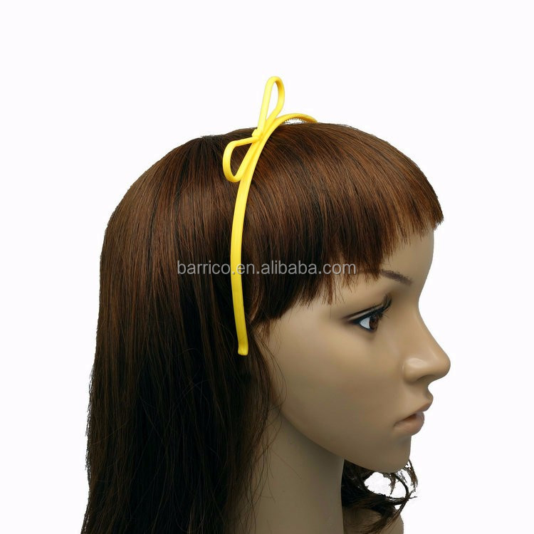 Wholesale Kids Headband Cute Girl Plastic Bowknot Hair Band