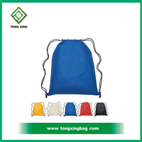 Customized solid color light sky blue drawstring Backpacks
