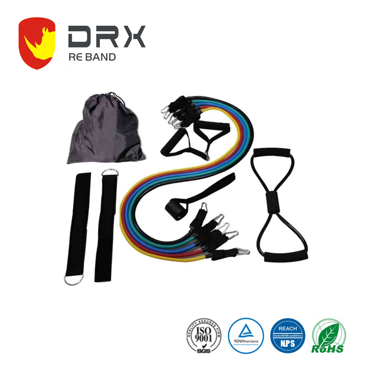 Hot product custom logo body sporting muscle strengthen resistance band set
