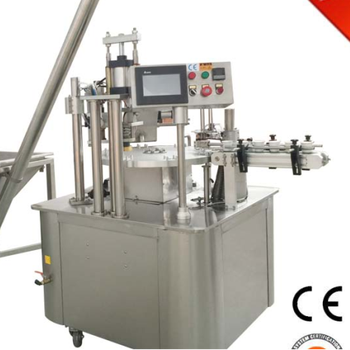 good quality rotary type coffee capsule filling sealing machine(nepresso, K-cup,etc)