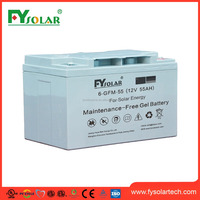 Battery Manufacturer! rechargeable solar storage battery, 55ah 12v deep cycle marin battery