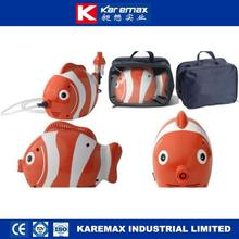 Golded fish nebulizer cartoon for sale with high flow