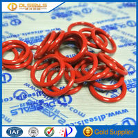 Red Silicone hard rubber o ring