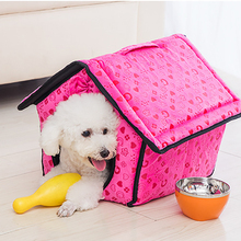 indoor soft fleece pet dog&cat bed pet house
