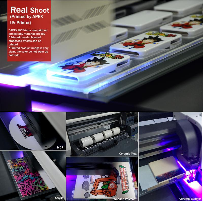 Automatic Apex Large Format A1 T-Shirt Led Digital Flatbed UV Printer