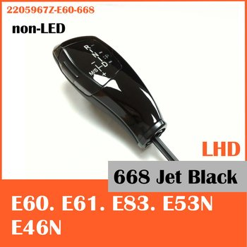 Free shipping for BMW E60 E61 E53N E46N E83 (non-LED) shift knob LHD 2205967Z-E60-668 Jet Black