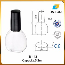 New Arrival large empty uv gel nail polish bottle 15ml with brush caps black hot sell