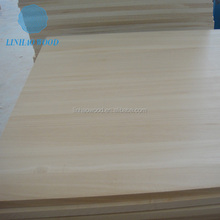 Bleached Solid Wood Paulownia Edge Glued Panels