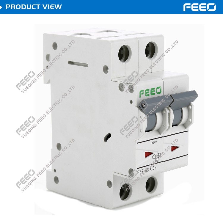 AC 230//400V 16A Single Pole Overload Protection MCB Mini Circuit Breaker Hot