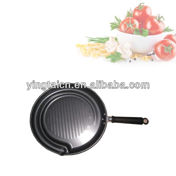 fat free non-stick fry pan with grill