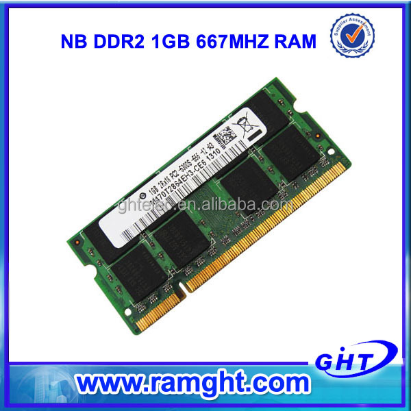 In stock 1gb ddr2-667 pc2-5300 200pin sodimm