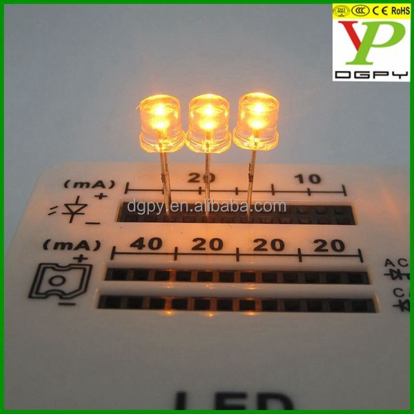 cheap price clear 5mm super bright flat top led