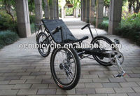20 inch hot sale cheap three wheels adult leisure recumbent tricycle adult