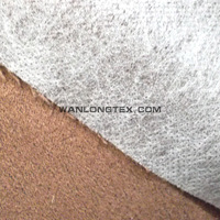 micro suede bonded with non-weaving fabric