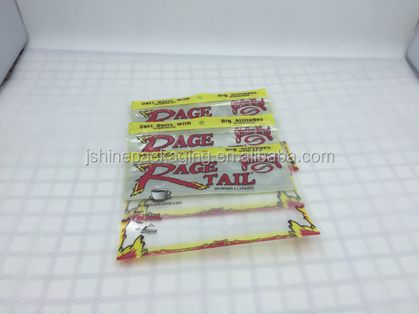 Reusable plastic soft fishing bait ziplock packaging bag