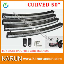 Double Row Curved 50 inch 288W LED Light Bars, curved off road high power led lightbar