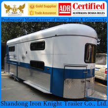 China imported 2 horse angle load camper trailer with living area
