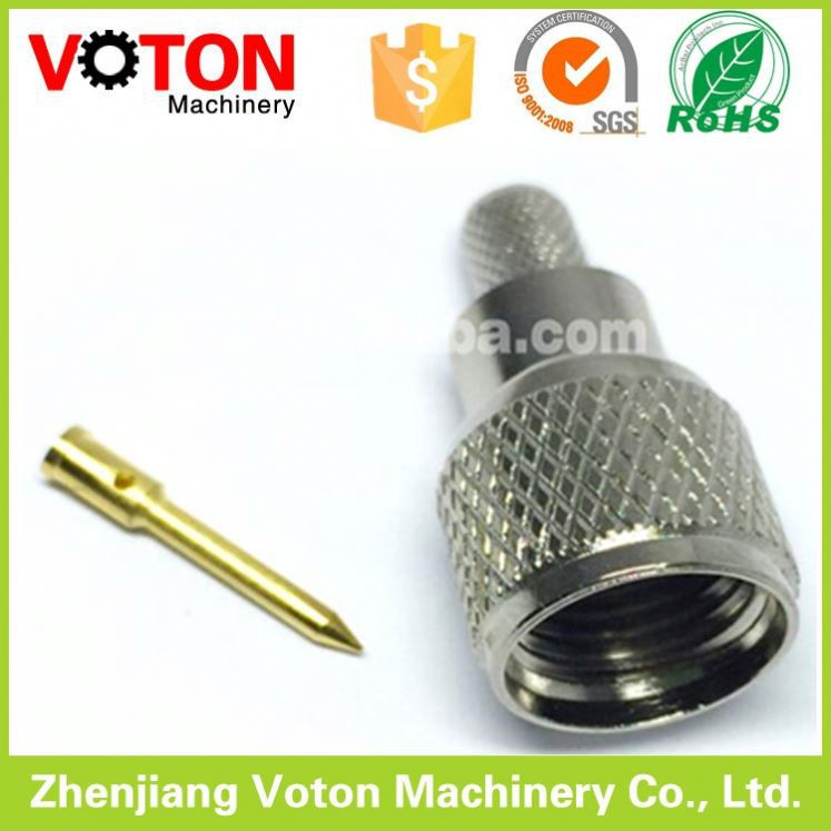 F Connector plug crimp type cable rg58 connector f type compression connector