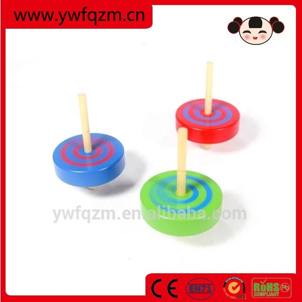 New product wooden spinning tops toy