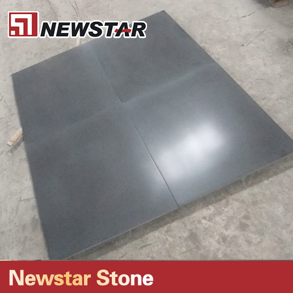 Newstar 24x24 honed granite tile Mongolia black tiles