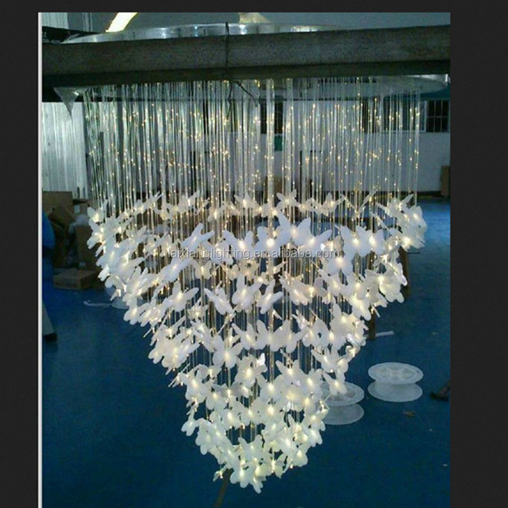 Made in China night lighting club,KTV,hotel decor ,club night Butterfly chandelier light Accept Zero risk Paypal Payment