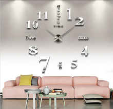 3D Large Mental Home Decor DIY Creative Personality Wall Clock