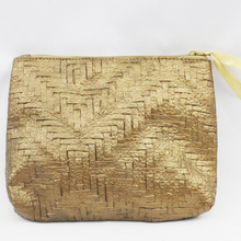Cheap promotion gift bag knit lines cosmetic bag