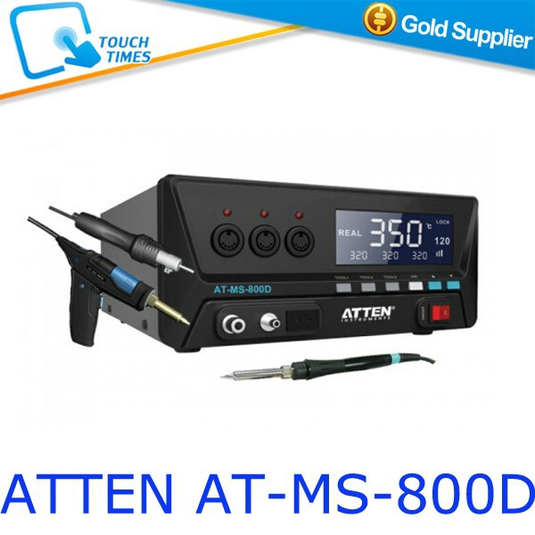 ATTEN AT-MS-800D Soldering Iron Hot Air Rework Pump 3-in-1 Multi-function Welding Station 110V 220V Optional