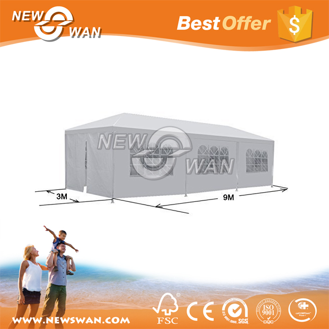 10'x30' Outdoor Camping White Party Wedding Tent Gazebo Canopy with Sidewalls Easy Set Gazebo BBQ Pavilion Canopy Cater Events
