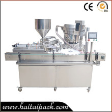 Automatic Plastic Bottle OLAY Cream Filling Capping Machine For Daily Use