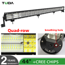 High Lumen 1080W 44 inch 4 Rows Car Led Offroad Light Bar,8D Led Driving Combo Beam LED Light Bar