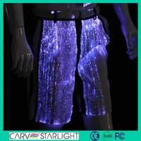 High quality fashion fiber optic fabric luminous work trousers