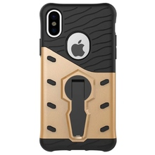 Hybrid pc+tpu360 degree rotating armor kickstand phone case for iPhone X case