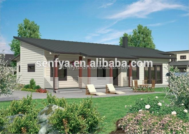 prefabricated modern wooden house
