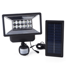 Most powerful outdoor wall sensor led with timer garden solar light