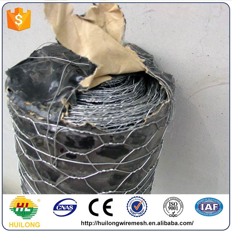 Anping huilong manufacture 16 gauge galvanized hexagonal wire mesh