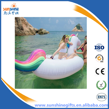 2016 China professional giant inflatable unicorn pool float manufacturer