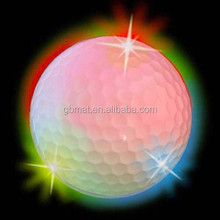 Flash Night Glowing Fly Luminous Fluorescent Light LED Golf Ball