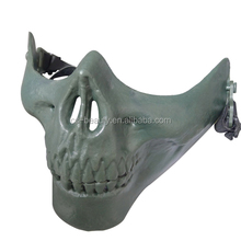 Skull Skeleton Mask Halloween Half Face Protective Skull Skeleton Airsoft Paintball Hunting Guard Half Face Mask
