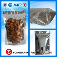 2015 best selling product Stand Up Dried Fruit Food Grade Nuts Bag Nuts Plastic Packaging Bags