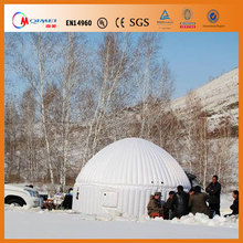 0.55mm PVC portable inflatable igloo camping tent for rental